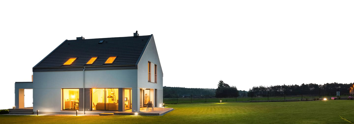 View modern house lights External Photo Of Modern House With Outdoor Lighting At Night External View Photo Of Modern House With Outdoor Lighting At Night External View